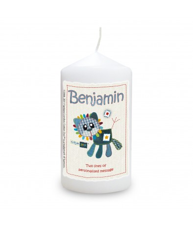 Cotton Zoo Denim the Lion Personalised Candle